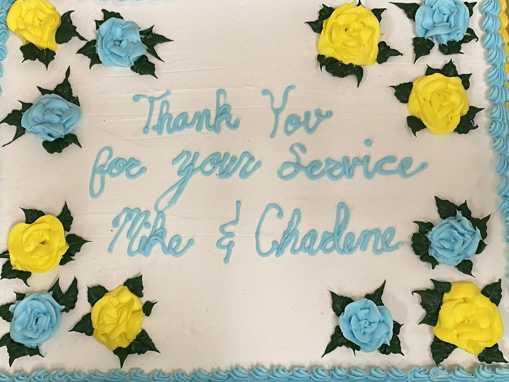 Cake for Charlene Gambler-Brown and Mike Redman