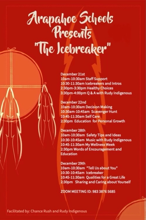 Flyer describing the The Icebreaker Events