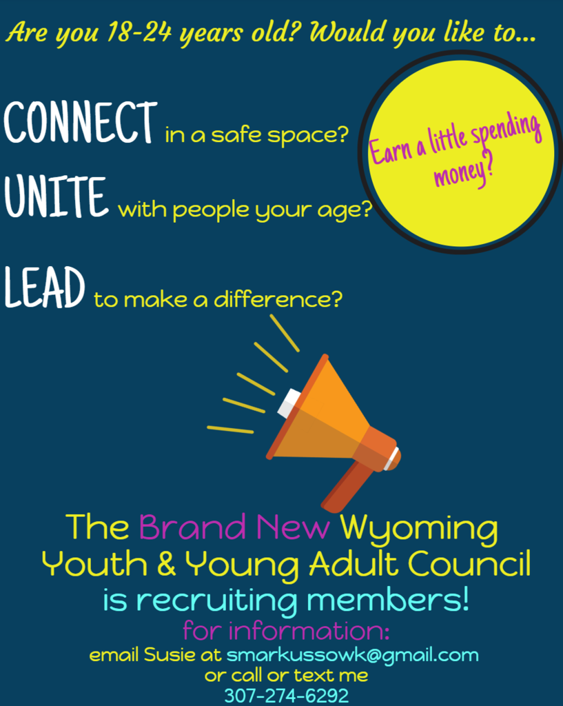 Flyer Describing the Wyoming Council for Youth and Young People