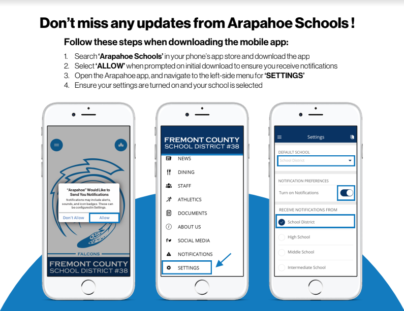 Arapahoe Schools App Instructions
